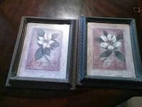 two white flower paintings