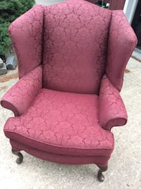 Queen hand wing back chair. Excellent condition