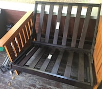 2 futon love seats (no cushions) $30 each or $50 for both. One love seat is still in the box. Other was assembled but never used   Vancouver, 98660
