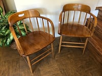 CAPTAINS CHAIRS / Pair / Solid Wood