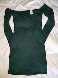 green long-sleeved bodycon dress 1958 km