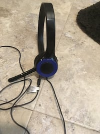 black and blue corded headset Providence, 02908