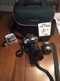 Immaculate Nikon F55 SLR 35mm film camera bundle amazing set up! Ottawa, K1H 5V8