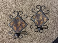 2 rod iron hanging candle holders  Moore, 73160