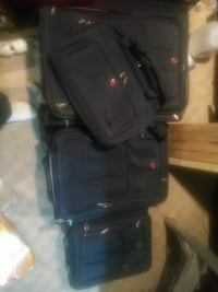 4 piece swiss army luggage set