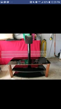 """Black and Wood 3 tier TV stand up to 60"""" fits Vaughan, L4L 6E9"""