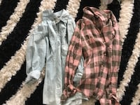 two gray and brown button-up sport shirts Chambly, J3L 0P9