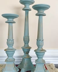 Newly refinished heavy resin candlesticks  Fairfax, 22032