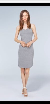 As new ~ wilfred Yasmin dress ~ grey stretch cotton ~ size large