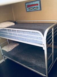 Twin white low bunk bed West Covina, 91791