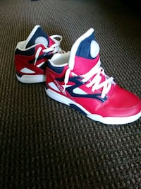 red-and-white Reebok basketball shoes size 6.5 obo Round Rock, 78681