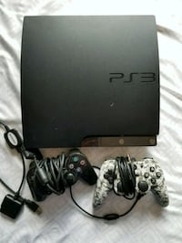 black Sony PS3 slim console with controllers San Diego, 92120