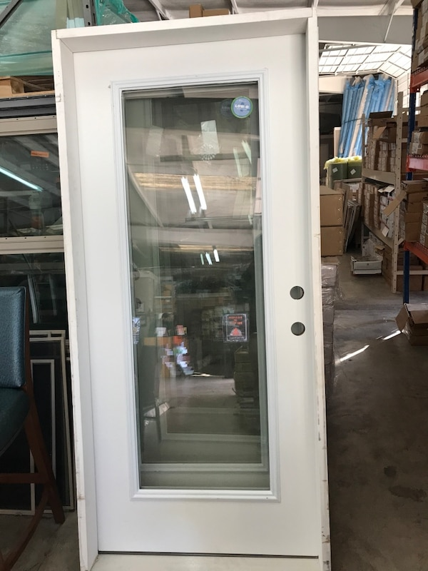 Used Glass and metal door with frame for sale in Lancaster - letgo