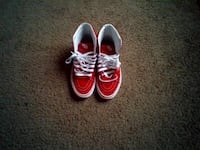 red and white high top vans Little Rock