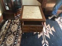 Marble top end table with deep drawer  Hagerstown, 21742