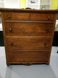brown wooden 4-drawer chest Brampton, L6S 2E4