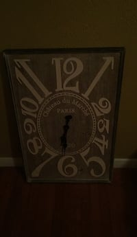 Wooden wall clock large 1383 mi