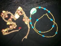 two blue and yellow beaded necklaces Sunbury, 17801