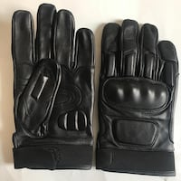 New black leather knuckle motorcycle gloves large size  El Cerrito, 94530