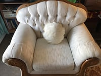 Solid Wood Sofa set with five custom made pillows Calgary, T3B 0L1