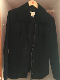 black suede zipped jacket