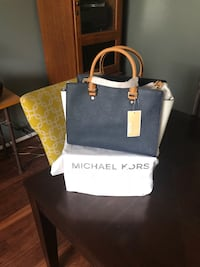 Blue and tan michael kors leather tote bag Burtonsville, 20866