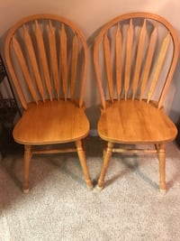 two brown wooden windsor chairs Vista, 92081