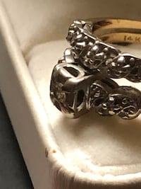 Engagement ring and wedding Band 14k  Diamond(they are attached) Edmonton, T5B 0E4
