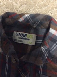 JUST REDUCED   MORE  flannel shirt brown 12m