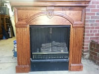Fireplace (vent free), screen and logs with Gel fuel.  No one ever suspected it wasn't real. Silver Spring