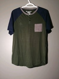 BLUENOTES Henley T-shirt Green/Blue