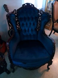 blue and black wooden armchair Chicago, 60647