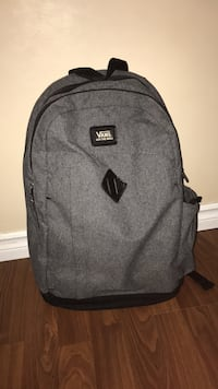 gray and black vans backpack Surrey