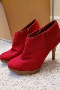 Size 8 Charlotte Russe red booties Fairfax