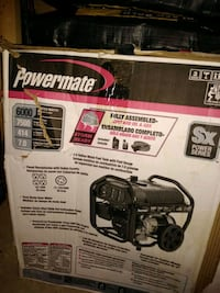 black and gray portable generator box