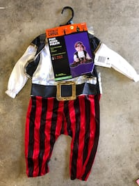 Baby pirate costume 12-18m Los Angeles, 91343