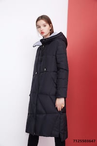 SALE-Dezoee Fashion: Black and Grey Color Women's Down Coat TORONTO