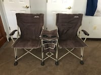 Green folding double camp chairs Tucson, 85719