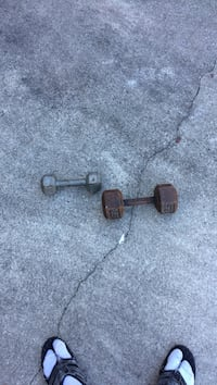 rusted brown and gray dumbbells Norfolk, 23504