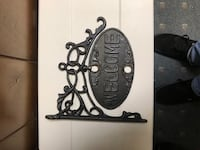Cast iron hanging welcome sign  Frederick, 21702