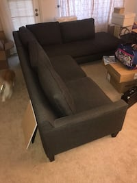 black fabric 3-seat sofa Washington, 20010