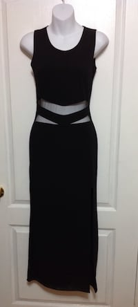 Sexy Black Long Cut-Out Dress: Size Small: brand new w/Tags Brampton, L7A