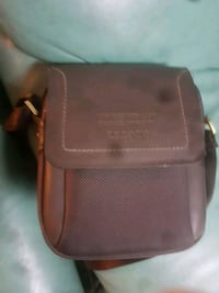 brown leather 2-way bag