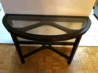 black wooden framed glass top table Montréal, H3N 2G4