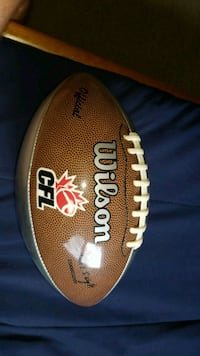 Montreal alouettes signed football 3489 km