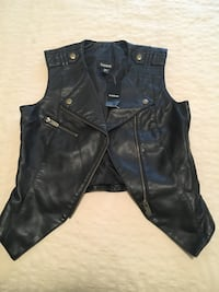 Ladies brand new with tag faux leather vest from BEBE  size XS Mississauga, L5L 4N2