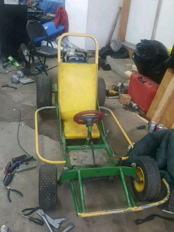 yellow and green go kart