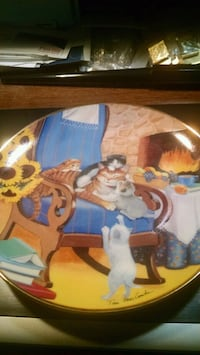Franklin Mint Cat Collector Plate Centreville, 20120