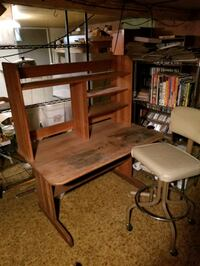 Wooden Computer desk and chair