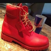 pair of red leather work boots Elkhart, 46516